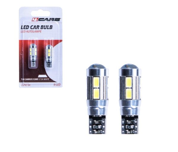 Sijalice LED T10, Canbus, 12V, 9 LED (2 kom)